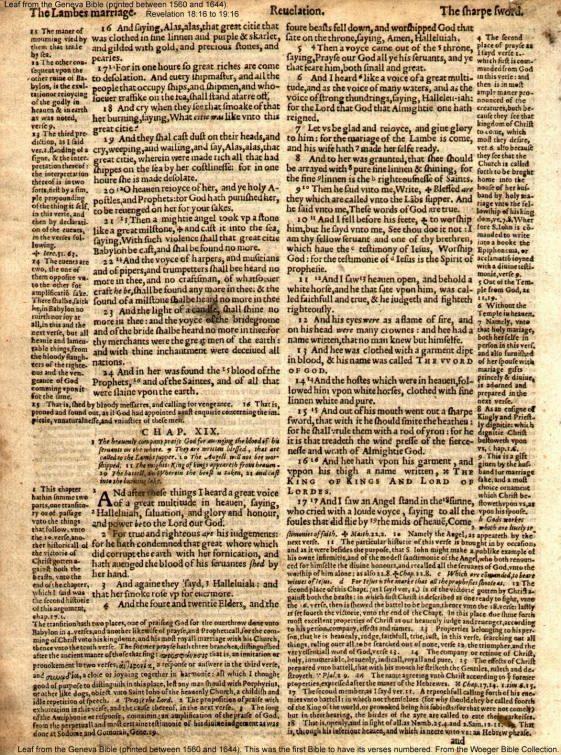Geneva Bible 1560-1644