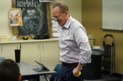 Greg Tonkinson teaching at Valley Christian HS